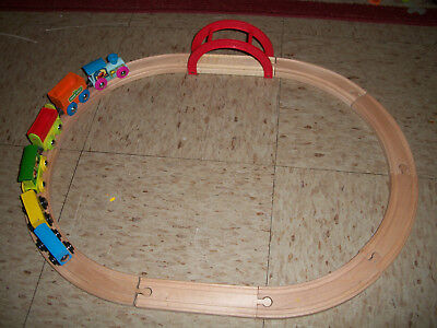 Tootsietoy Ernie's 1-2-3 Sesame Street Line Wooden Train Set Fits BRIO Thomas