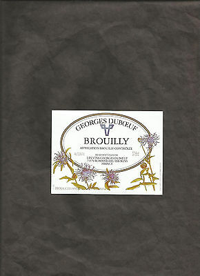 BROUILLY GEORGES DUBOEUF 37.5 cl WINE BOTTLE LABEL