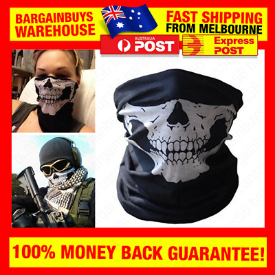 New Skull Face Bandana Skeleton Mask Neck Tube Scarf Biker Motorcycle Hunting
