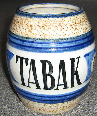 antique TABAK (tobacco) jar HOLLAND