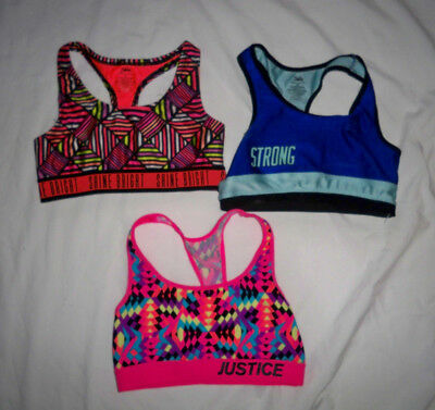 Lot of  3*Justice*Girls Sports Bras*SIZE 30-32