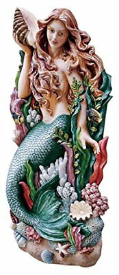 Large Mermaid Wall Art Nautical Figurehead Decor Plaque Hanging Sculpture Statue