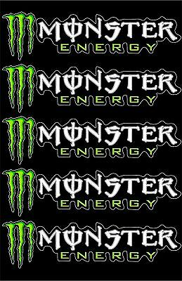 "Monster Energy Drinks Sticker Decal Sponsor 8"" By 2"""