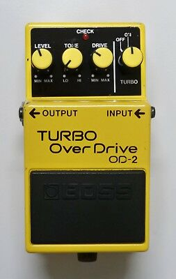 BOSS OD-2 TURBO Over Drive Guitar Effects Pedal 1989 F/S #7 w/Tracking