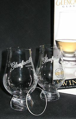 Glenfarclas Twin Pack Glencairn Glasses With Two Watch Glass Covers
