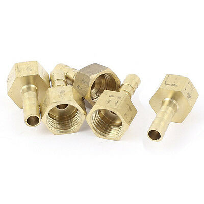 10x(5Pcs Brass 6mm Hose Barb 1/4 inch BSP Female Thread Quick Joint Connect J5F1
