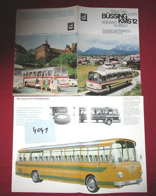 N°4041  / BUSSING : catalogue autocar KMS 12 deutsch text 1963