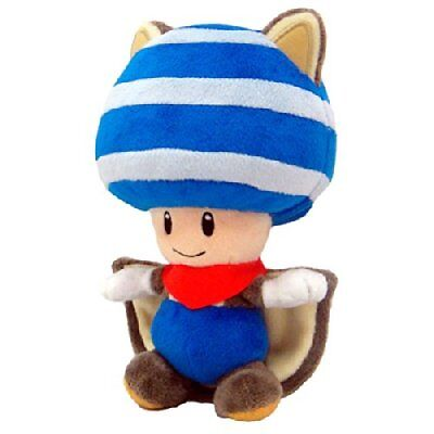 Namco Bandai - Peluche Flying Squirrel Blue Toad Plush De 20 Cm