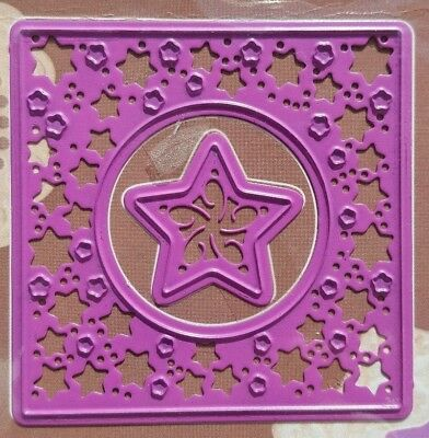 Christmas Square with Stars 2 cutting & embossing dies - Joy Crafts # 6002/0015