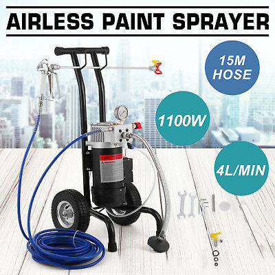 All-in-One Airless Paint Sprayer Surface Spray Painting 15M Gun 4L/min 1.5HP