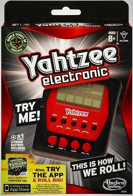 Yahtzee Electronic Hand Held Game Digital Game Play Friends Gathering Brand New