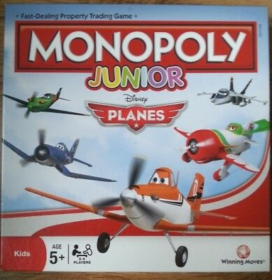 Monopoly Junior Disney Planes Edition Property Trading Board Game VGC