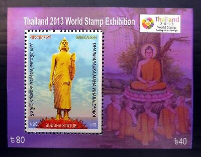 BANGLADESH 2013 Thailand Stamp Exhibition with Buddha Statue AH455