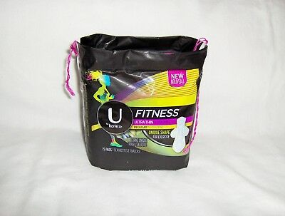 U by Kotex Fitness Ultra Thin Pads with Wings - 15 Count Regular Flow