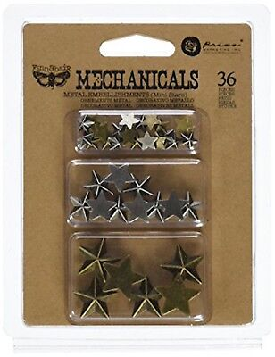 Prima Marketing Mechanicals Metal Embellishments Star Brads