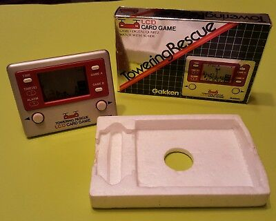 Towering Rescue Gakken LCD - Vintage Game and Watch Style Game 1981 Japan