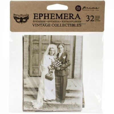 Prima Marketing Ephemera Pack - Vintage Collectibles 32 Pieces