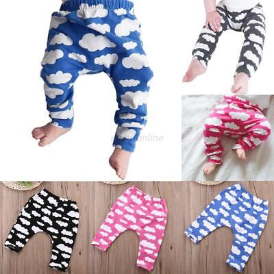 Toddler Baby Boys Girl Cotton Cloud Pants Bottom Harem Pants Leggings Trousers