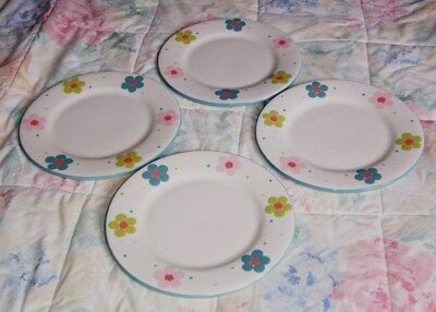 4 x GABRIELLA MILLER DESIGN 8.50 INCH PLATES IN VERY GOOD CONDITION  UNUSED