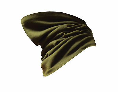 British Army - HEADOVER - OLIVE GREEN - WOOL - Used - Grade 1 Condition