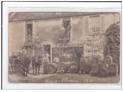 St-CHERON : carte photo du marchand de vins Polkinet - etat