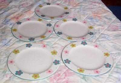 5 x GABRIELLA MILLER DESIGN 10.50 INCH PLATES IN VERY GOOD CONDITION  UNUSED