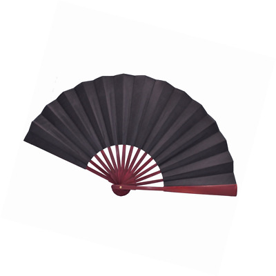 Metable Large Black Silk Folding Fan Chinese Style Men Bamboo Folded Fans Father