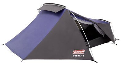 Coleman Cobra 3, Three Person Man Backpacking Tent Lightweight and Compact, New