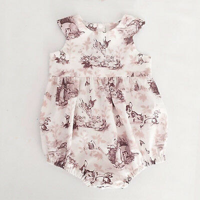 Newborn Baby Girl Sleeveless Romper Jumpsuit Bodysuit Infant Clothes Outfits Set