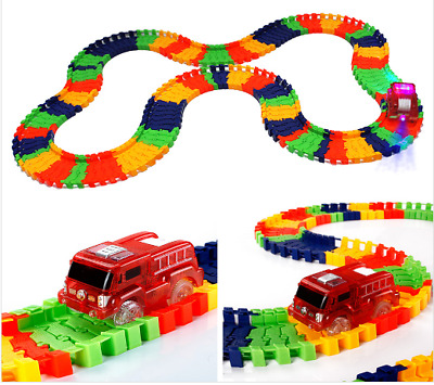 Magic Tracks The Amazing Racetrack that Can Bend Flex Glow Boys Gift for child