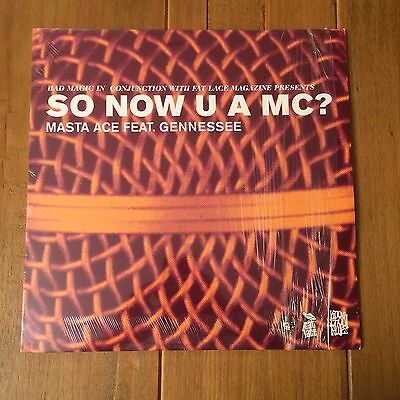 "Masta Ace Feat. Gennessee ‎– So Now U A MC? (12"" Vinyl Hip Hop)"