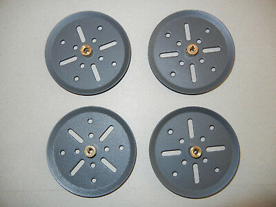 "Meccano 3"" Metal Pulley X 4"