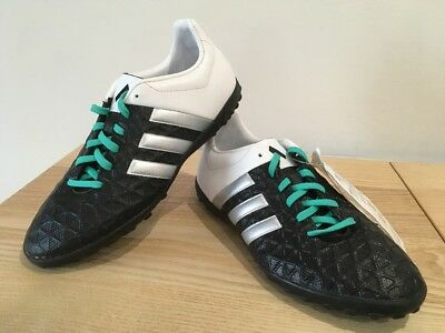 Adidas Ace 15.4 TF Astro Turf Kids Football Trainers Boots Size UK 3 Black E28