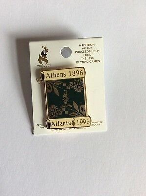 Atlanta Olympic Games 1996 Athens 1896 Atlanta 1996 scroll pin