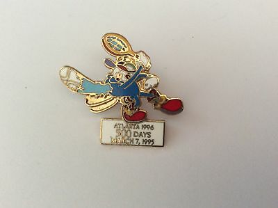 Atlanta Olympic Games 1996 Izzy 500 days to go Tennis pin