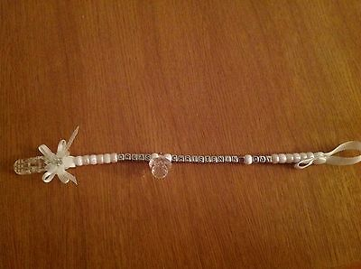 Dummy/pacifier clip , special occasion,Christening,Wedding,