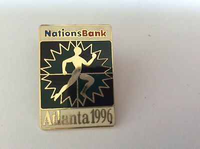 Atlanta Olympic Games 1996 Nations Bank Sponsor Pin Athletics