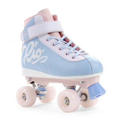 Rio Roller - Milkshake Retro Trainer Quad Roller Skate - Cotton Candy