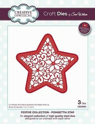 Creative Expressions  Festive Collection Poinsettia Star