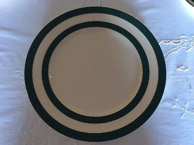 Two Green Cornishware Dinner Plates