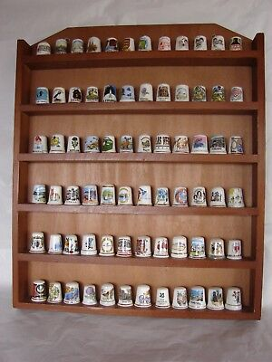 72 Thimbles in a display case