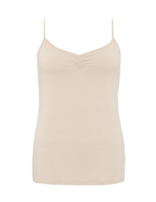 Ex Marks & Spencer Ladies Collection Ruched Camisole Top Vest Nude Navy Ex M&S