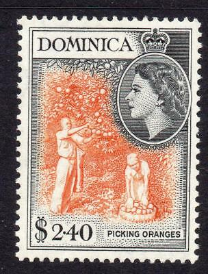 Dominica 2.40 Dollar Stamp c1954-62 Mounted Mint