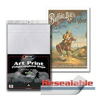 "1 Pack of 100 BCW Art Print 11 x 17"" Photo Bags - Resealable"