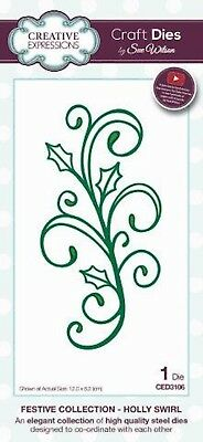 Creative Expressions Festive Collection Holly Swirl