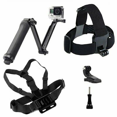 Chest Head Strap Belt Mount 3-Way Bracket For GoPro Hero 1 2 3+ 3 4 5 Session
