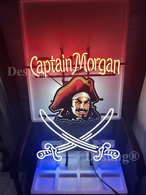 "New Captain Morgan Rum Neon Sign 24""x20"" with HD Vivid Printing Technology"