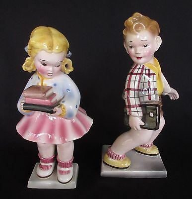Two Austrian Porcelain Figurines Made By Pankera Wein