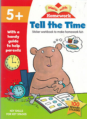 Learn To Tell The Time Age 5+ - Help With Homework Book - 100 Reward Stickers