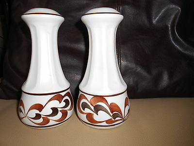 Large Salt N Pepper Pots 70's Retro By Radford Pottery